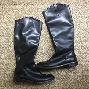 Halogen Black Leather Boots